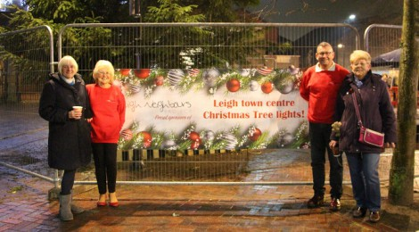 Leigh Christmas Tree Lights Switch-On!