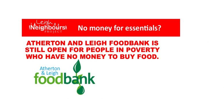 Atherton and Leigh Foodbank crisis website slider 1