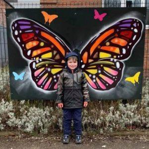 butterfly campaign 2021 boy wings