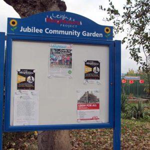 community garden project board