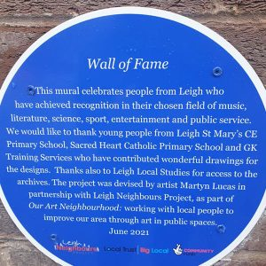wall of fame plaque
